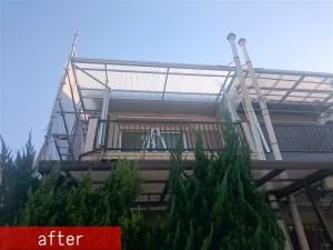 テラス屋根ポリカ張替え施工後2