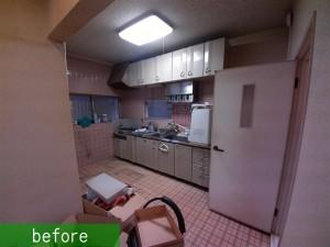 キッチン工事施工前 (2)