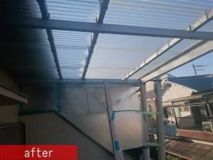 テラス屋根ポリカ張替え施工後